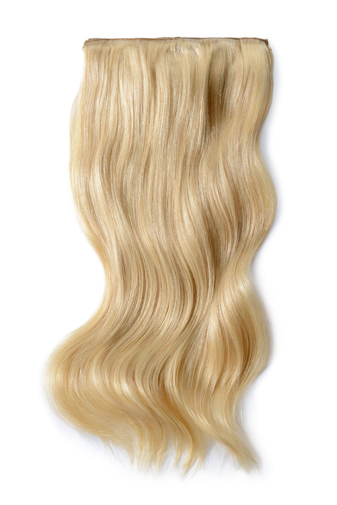 Double Wefted Full Head Remy Clip in Human Hair Extensions - Light Ash Blonde (#22)