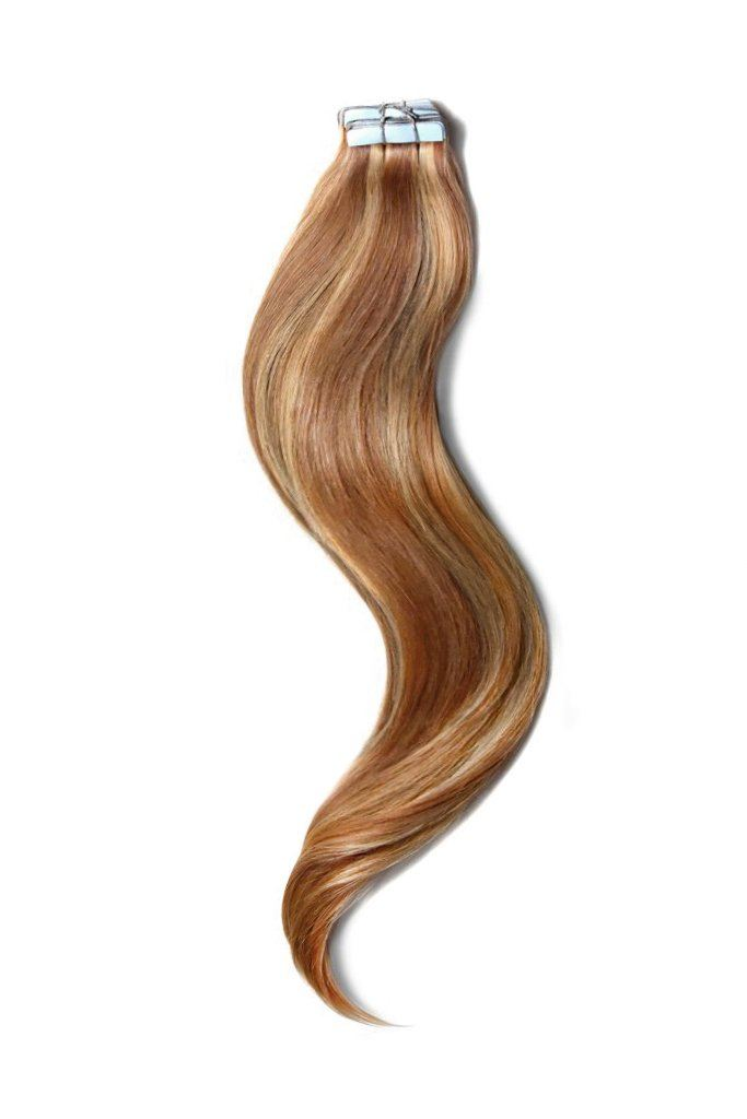 Tape in Remy Human Hair Extensions - #27/30 Tape in Hair Extensions Cliphair UK