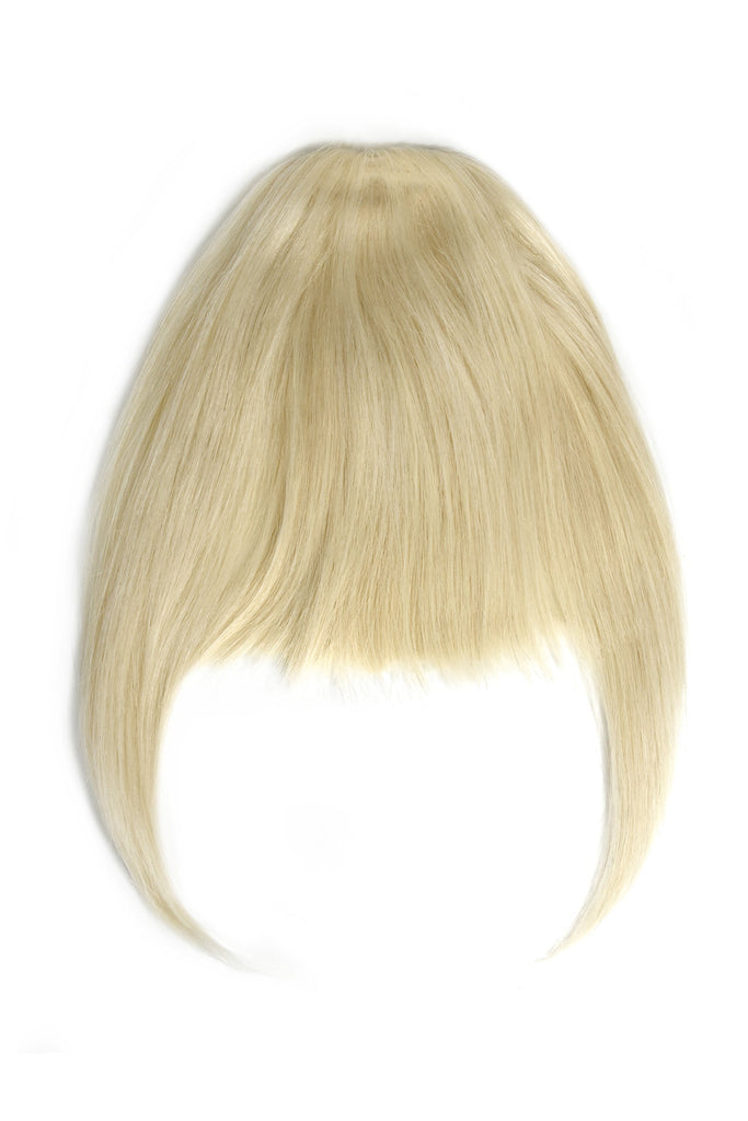 clip in fringe lightest blonde human hair extensions