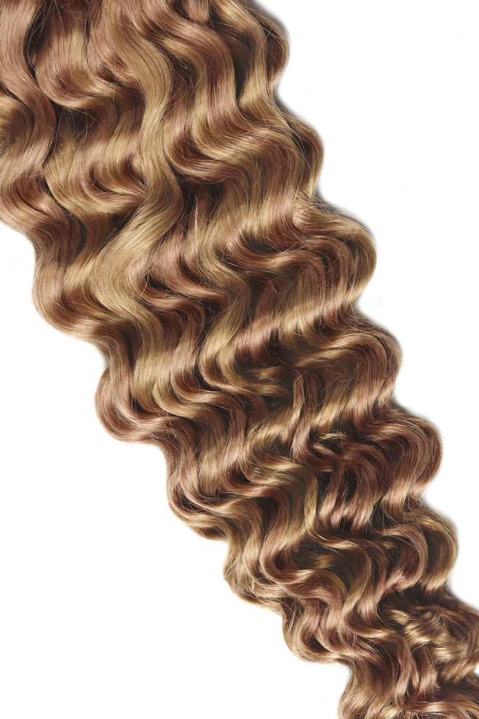 Curly Full Head Remy Clip in Human Hair Extensions #27/30 Curly Clip In Hair Extensions cliphair