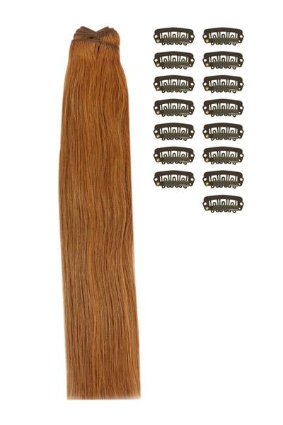 15 Inch DIY Remy Clip in Human Hair Extensions - Light Auburn (#30)