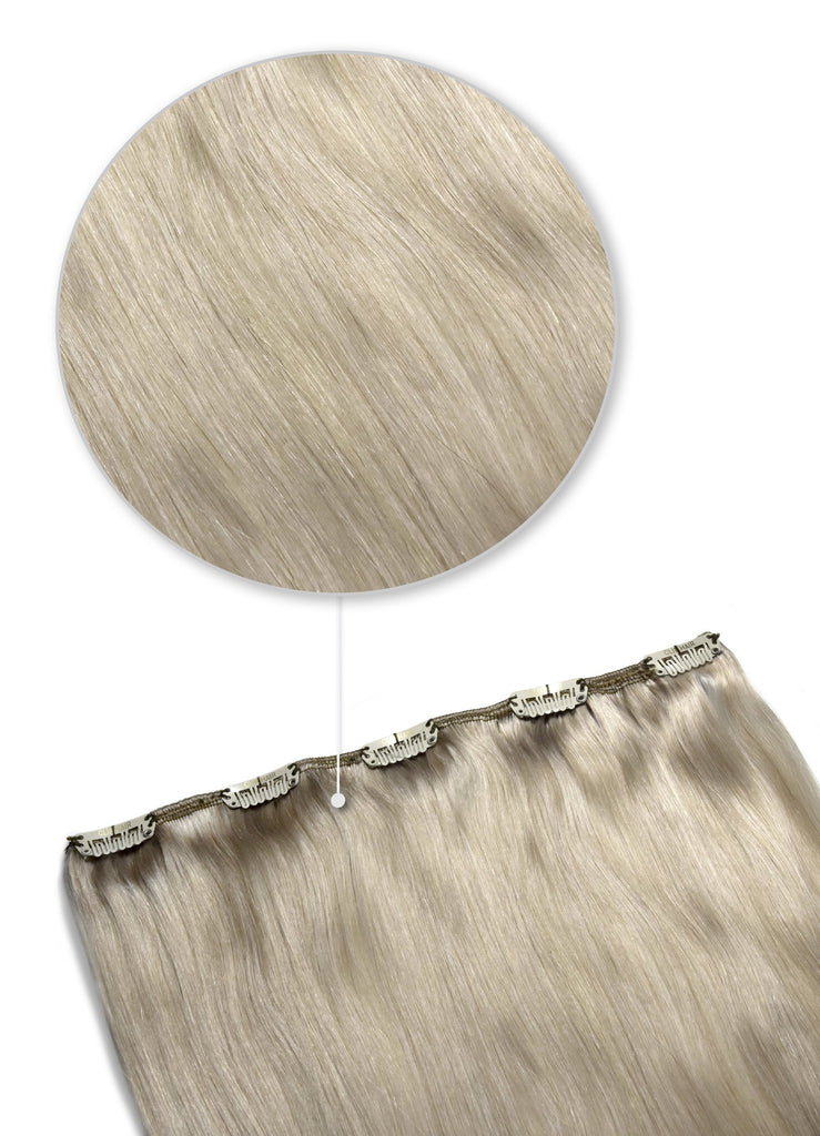 one piece clip in hair extensions silver sand shade SS