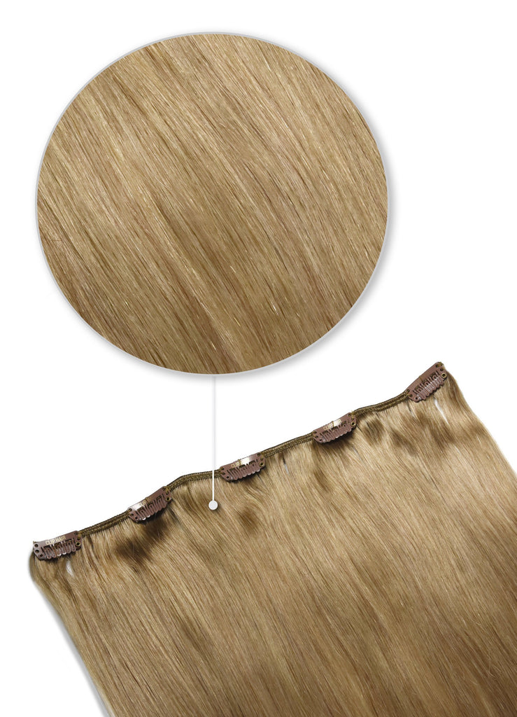 hair pieces - one piece hair extensions lightest brown shade 18