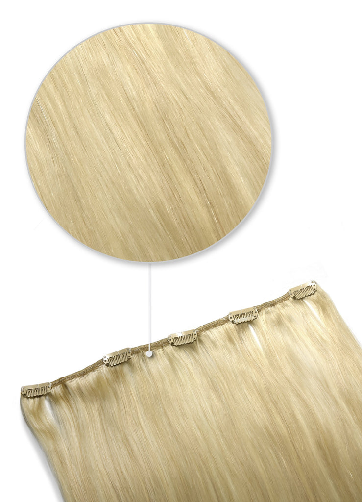 one piece hair extensions clip in human hair ash blonde
