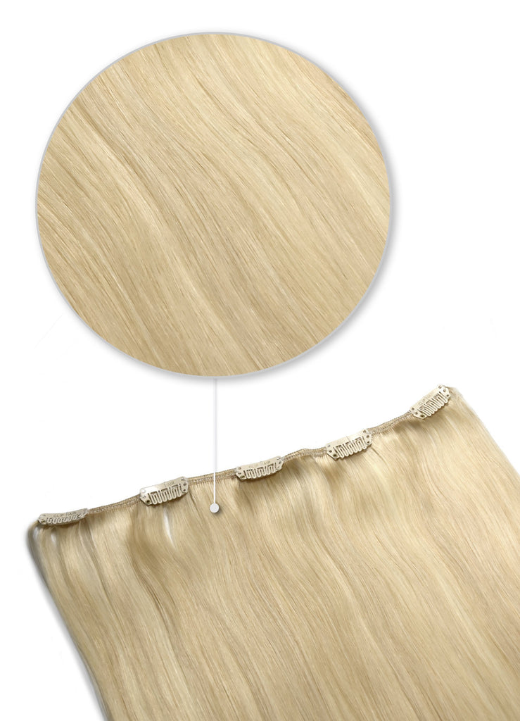 hair pieces clip in hair extensions one piece light ash blonde