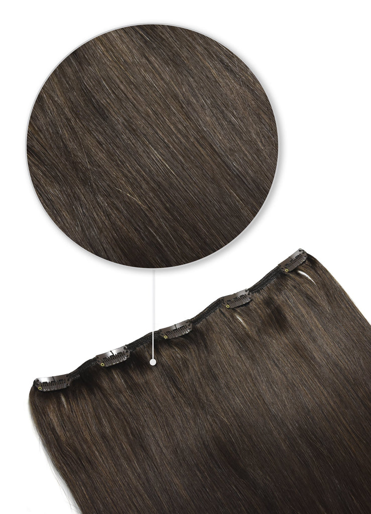 one piece clip in hair extensions 40g dark brown shade 3
