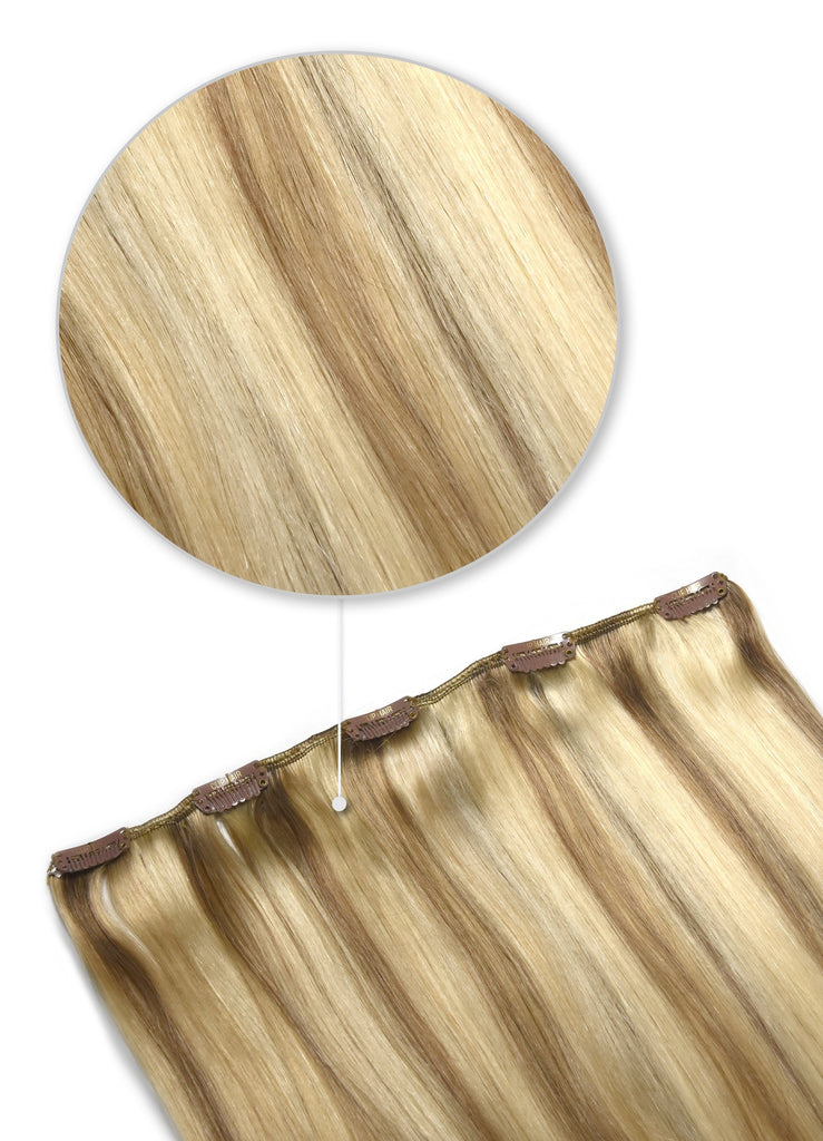 one piece hair extensions uk golden brown highlights