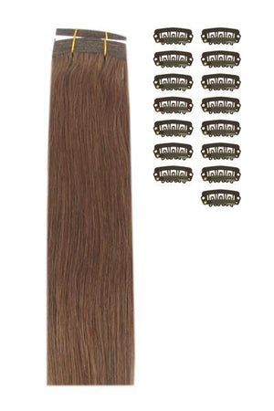 15 Inch DIY Remy Clip in Human Hair Extensions - Toffee Brown (#5)
