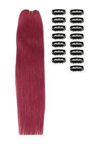 15 Inch DIY Remy Clip in Human Hair Extensions - Plum/Cherry Red (#530)