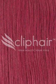 15 Inch Remy Clip in Human Hair Extensions Highlights / Streaks - Plum/Cherry Red (#530)