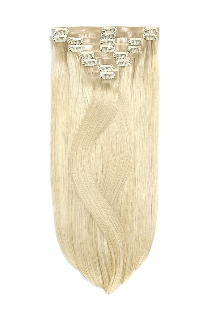 Remy Royale Seamless Clip ins - Lightest Blonde (#60) Remy Royale Seamless Clip ins Cliphair