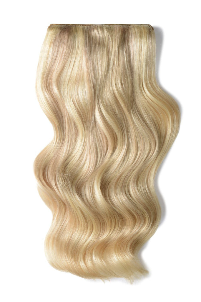 Double Wefted Full Head Remy Clip in Human Hair Extensions - Blonde Me (60/SS)