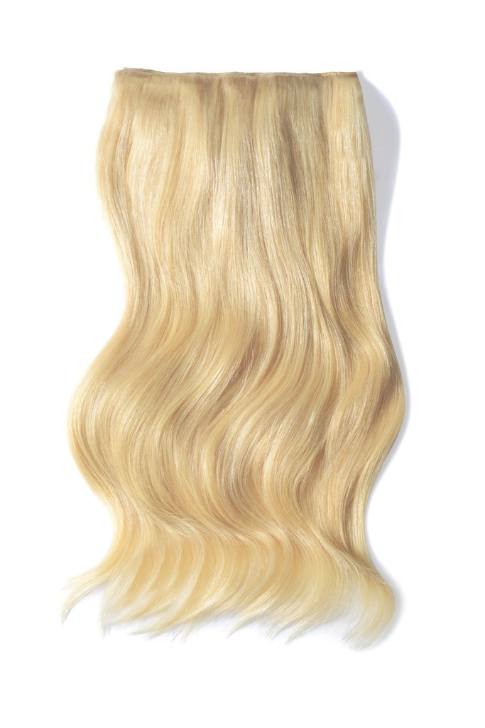 Double Wefted Full Head Remy Clip in Human Hair Extensions - Bleach Blonde (613)