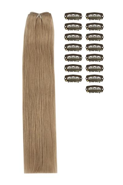 15 Inch DIY Remy Clip in Human Hair Extensions - Medium Ash Brown (#8)