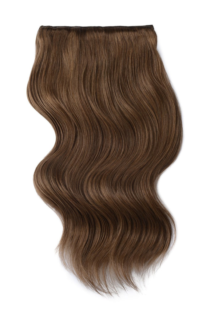 thick hair extensions double weft medium ash brown shade 8