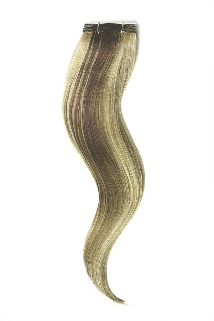 Ash Brown Bleach Blonde Mix Hair Extensions
