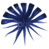 Remy Clip in Human Hair Extensions Highlights / Streaks- Blue
