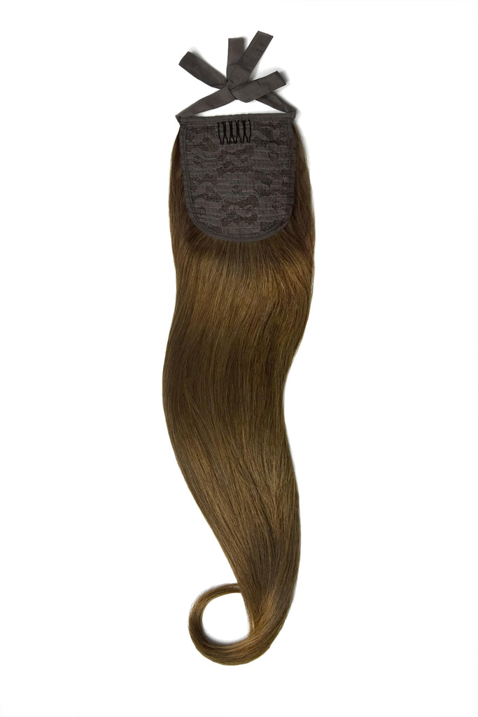 Clip in Ponytail Remy Human Hair Extensions - Light/Chestnut Brown (#6) Clip In Ponytail Extensions > Ponytail extension > Clip in ponytail > Ponytail hair extensions cliphair