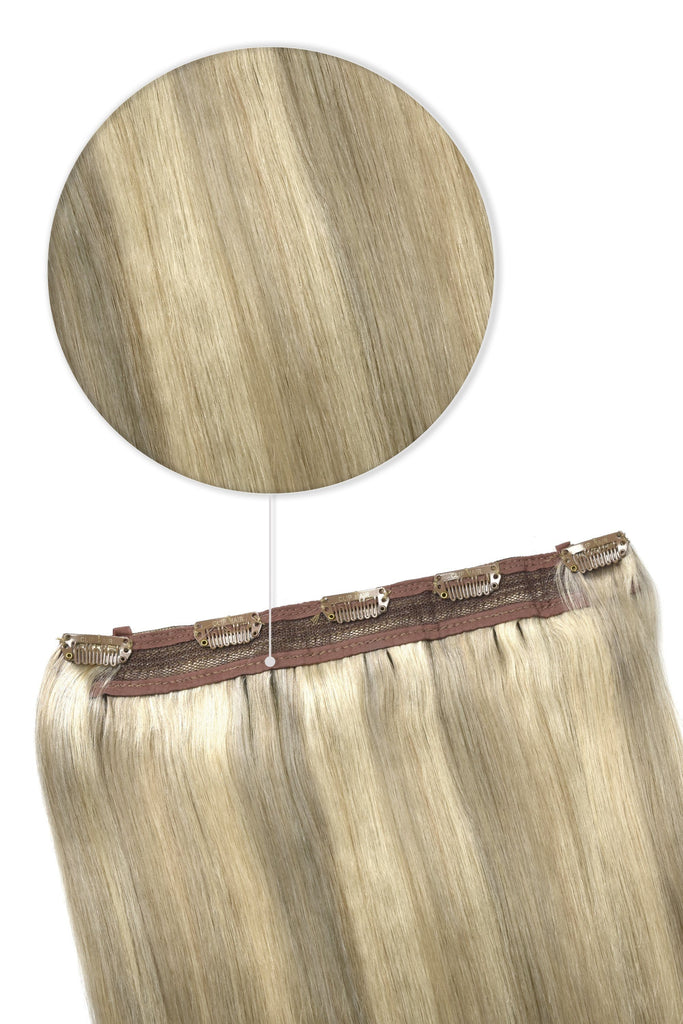 Quad Wefted Remy Clip in Human Hair Extensions - BlondeMe (#60/SS)