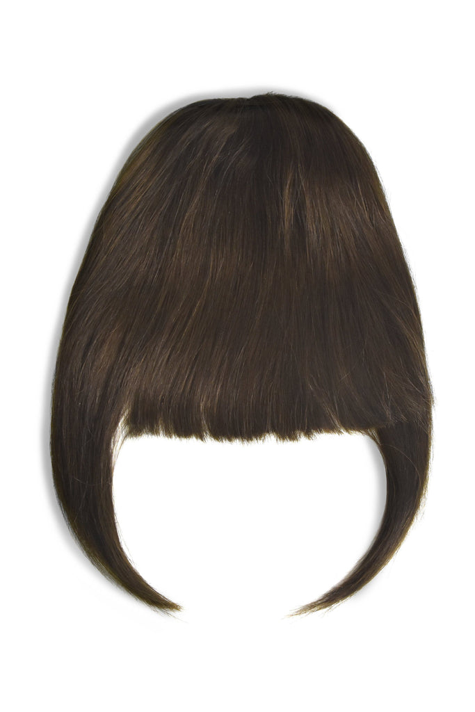 clip in fringe bangs human hair medium brown