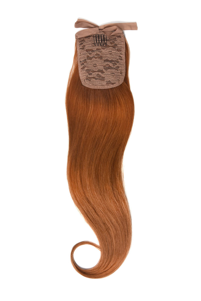Clip in Ponytail Remy Human Hair Extensions - Ginger Red/Natural Red (#350) Clip In Ponytail Extensions > Ponytail extension > Clip in ponytail > Ponytail hair extensions cliphair