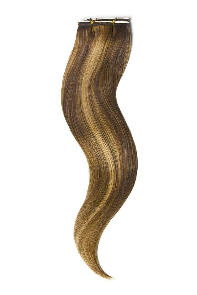 Light Brown Ginger Blonde Mix Hair Extensions