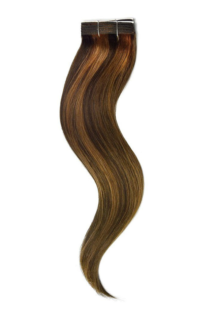 Medium Brown Auburn Mix Hair Extensions