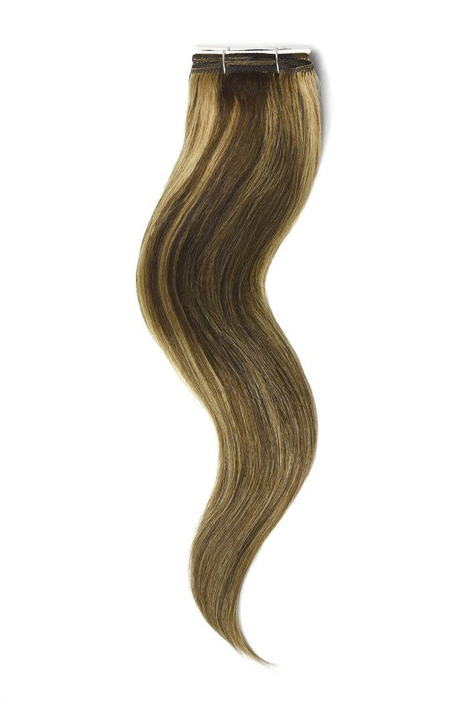 Medium Brown Strawberry Blonde Mix Hair Extensions