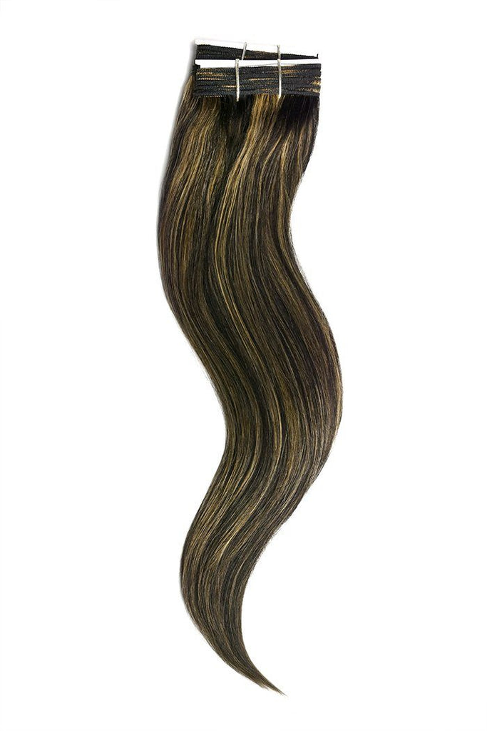 Natural Black Blonde Mix Hair Extensions