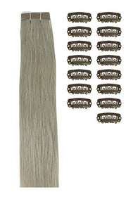 15 Inch DIY Remy Clip in Human Hair Extensions - Silver Sand (#SS)