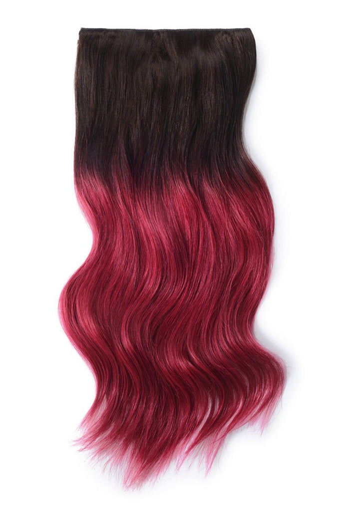 Double Wefted Full Head Remy Clip in Human Hair Extensions - ombre/Ombre (#T2/530) Ombre Clip In Hair Extensions cliphair