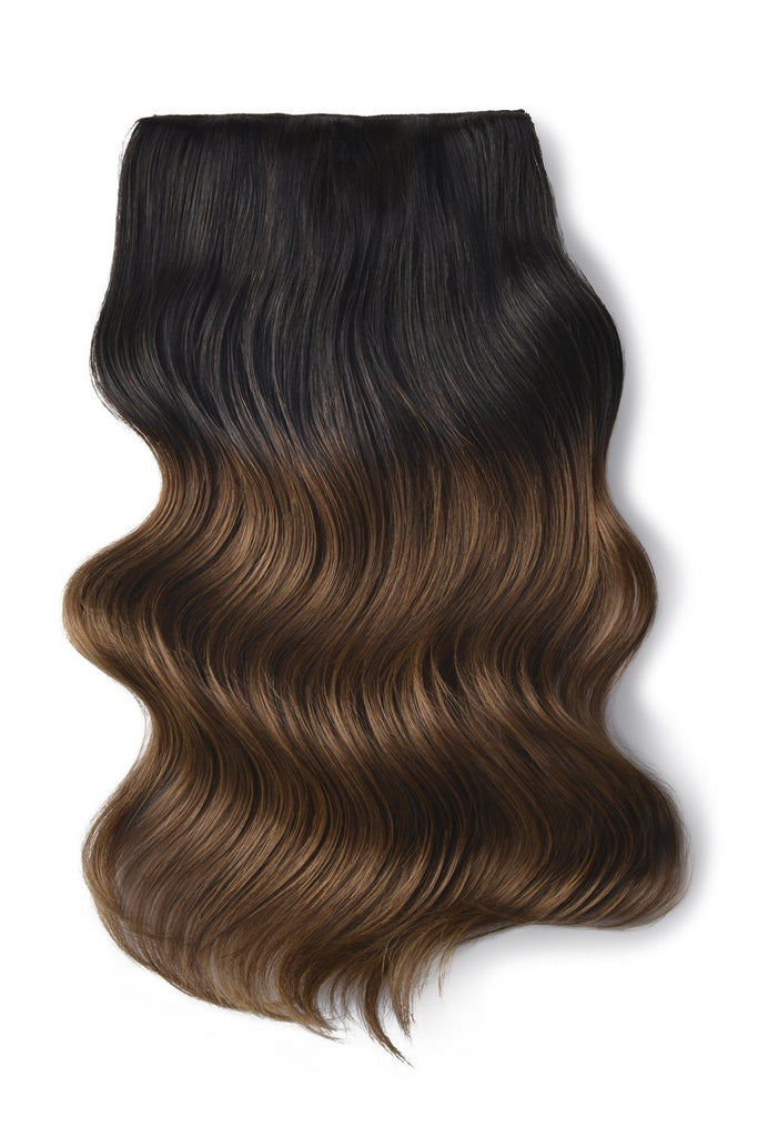 Double Wefted Full Head Remy Clip in Human Hair Extensions - Ombre (#T2/6)