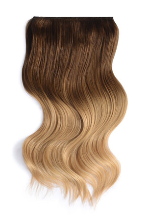 Full Head Remy Clip in Human Hair Extensions - ombre/Ombre (#T6/613)