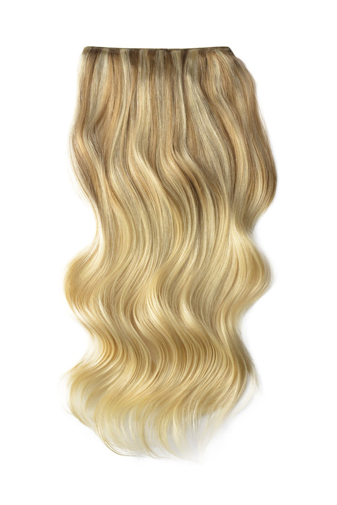 Double Wefted Full Head Remy Clip in Human Hair Extensions - ombre/Ombre (#T18/613)