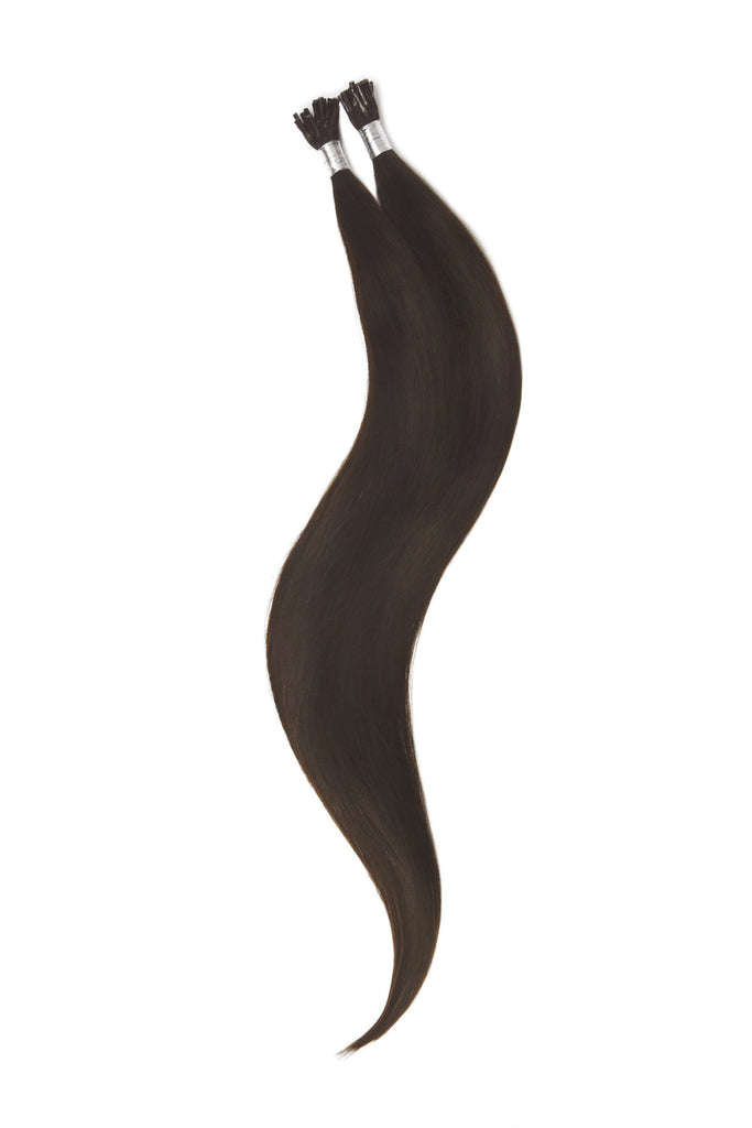 Stick Tip / I-Tip Pre-bonded Remy Human Hair Extensions - Darkest Brown (#2)