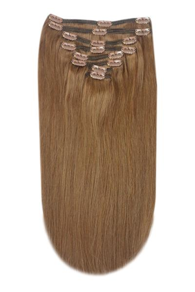 Light Chestnut brown hair extensions clip in