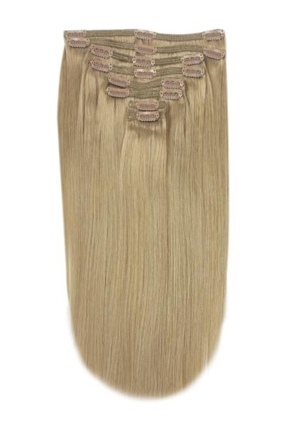 Full Head Remy Clip in Human Hair Extensions - Lightest Brown (#18)