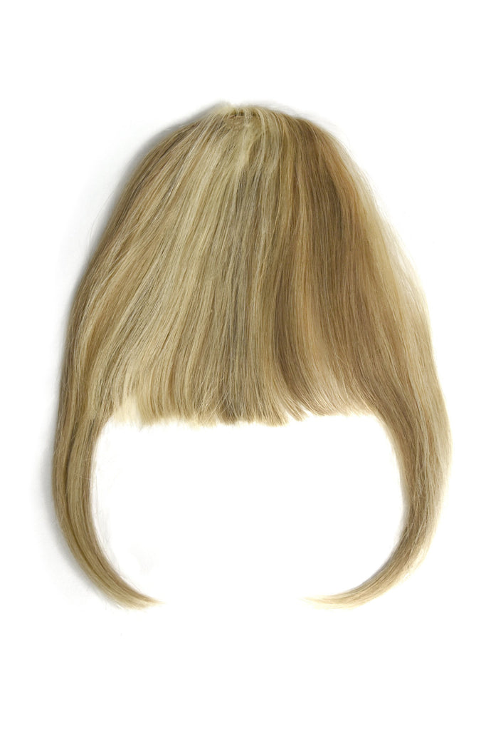 clip in fringes blonde highlights 100% human hair