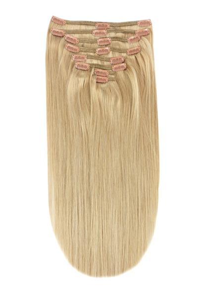Full Head Remy Clip in Human Hair Extensions - Light Golden Blonde (#16)