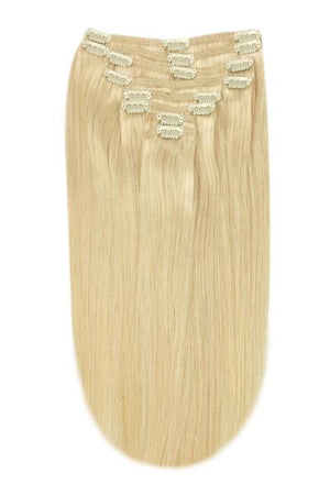 Full Head Remy Clip in Human Hair Extensions - Light Ash Blonde (#22)