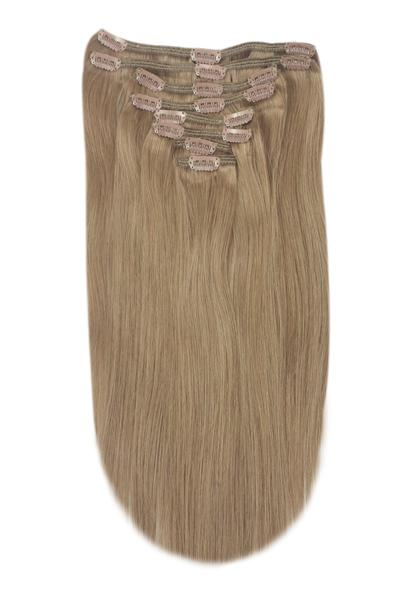 Medium Ash Brown Clip In Hair Extensions