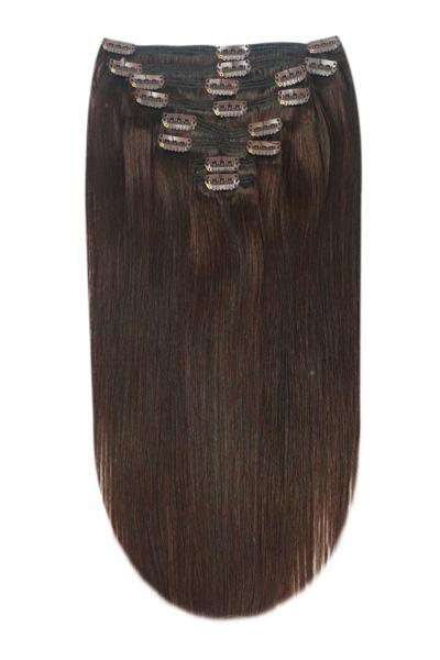 Dark brown hair extensions shade 3