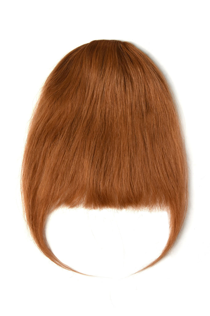 Clip in /on Remy Human Hair Fringe / Bangs - Ginger Red/Natural Red (#350) Clip In Fringe Extensions cliphair