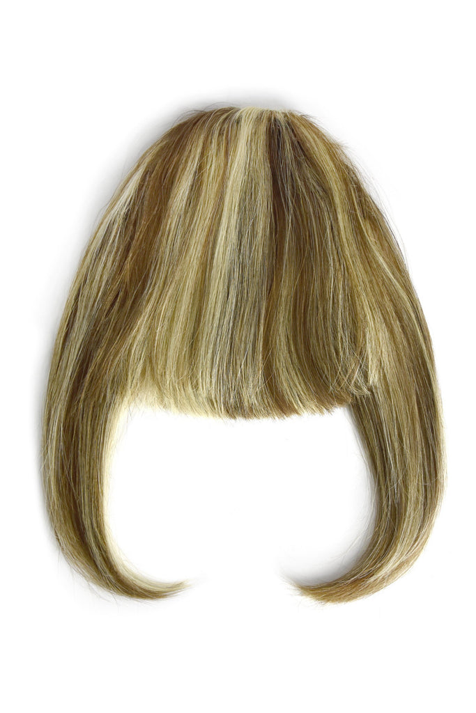 Fringe Hair Extensions Bangs Brown Highlights