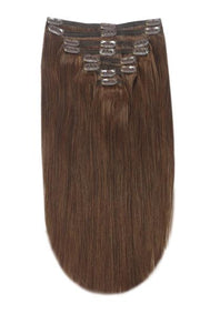 clip in hair extensions medium brown shade 4