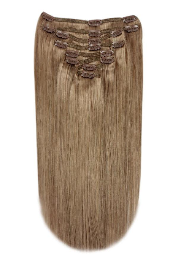 Full Head Remy Clip in Human Hair Extensions - Dark Blonde (#14)