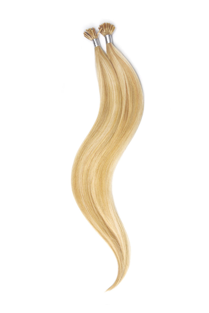 Stick Tip / I-Tip Pre-bonded Remy Human Hair Extensions - Golden Blonde/Bleach Blonde Mix (#16/613)