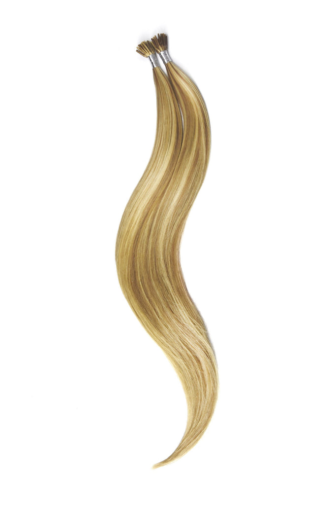 Stick Tip / I-Tip Pre-bonded Remy Human Hair Extensions - Lightest Brown/Bleach Blonde Mix (#18/613) I-TIP Straight Pre-bonded Hair Extensions cliphair