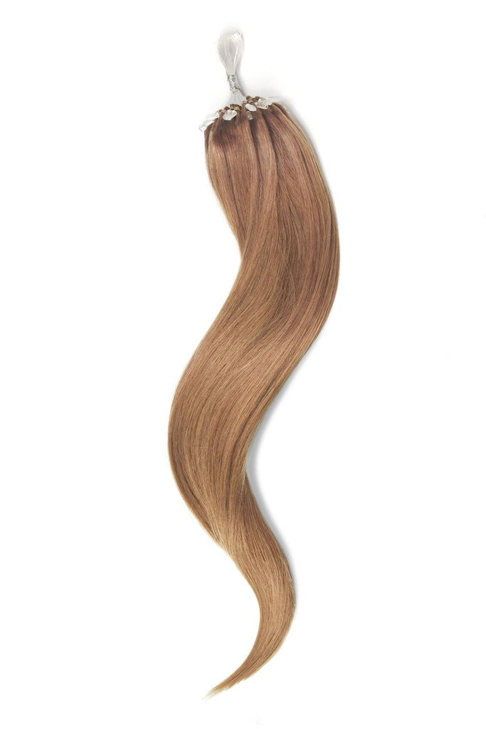 Micro Ring Loop Remy Human Hair Extensions - Lightest Brown (#18)