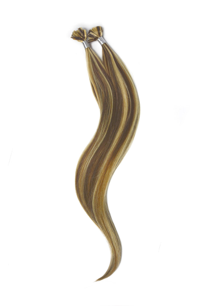 Nail Tip / U-Tip Pre-bonded Remy Human Hair Extensions - Light Brown/Bleach Blonde Mix (#6/613)